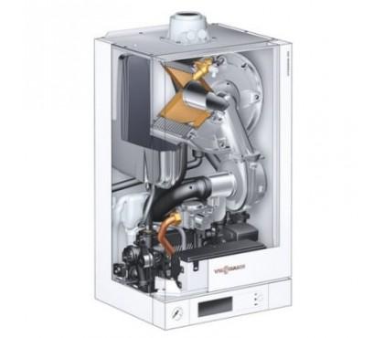 Настенный газовый конденсационный котел Viessmann Vitodens 100-W с модулируемой цилиндрической горелкой Matrix и диапазоном тепловой мощности от 4,7 до 35,0 кВт