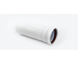 Удлинитель трубы Ø80*500mm, White