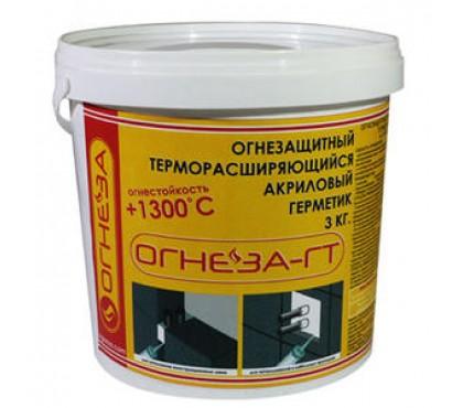 Противопожарный терморасширяющийся акриловый герметик Огнеза-ГТ 3кг.