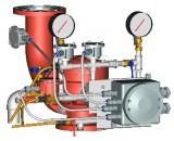 Узел управления с комбинированным приводом взрывозащищенный УУ-Д100/1,6(Р; Э12, 24, 220; Г0,07)-ВФ.УЗ.1