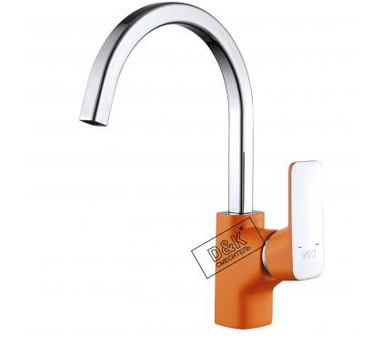 DA1432413 Смеситель для кухни оранжевый + хром