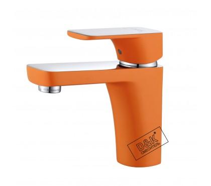 DA1432116 Смеситель для раковины оранжевый + хром