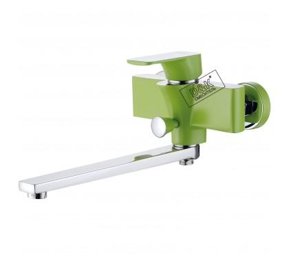 DA1433312 Смеситель для ванны зеленый + хром